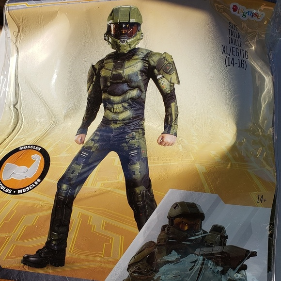 Disguise Other - Halo Master Chief Muscle Costume w/Mask Size 14/16
